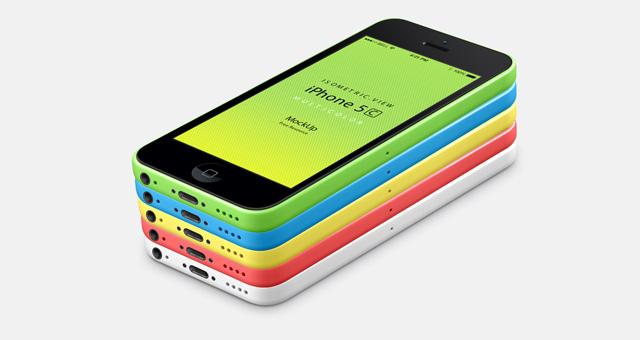 1-iphone-5C-mobile-celular-multicolors-view-3d-mock-up-psd