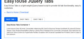Easy to use jQuery Tabs CSS & jQuery