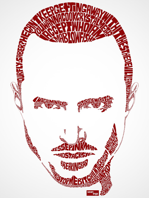 Typography face portraits of worlds famous pop star Typography portrait