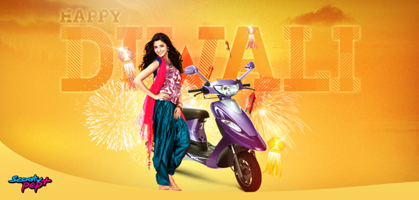happy diwali form scooty pep+