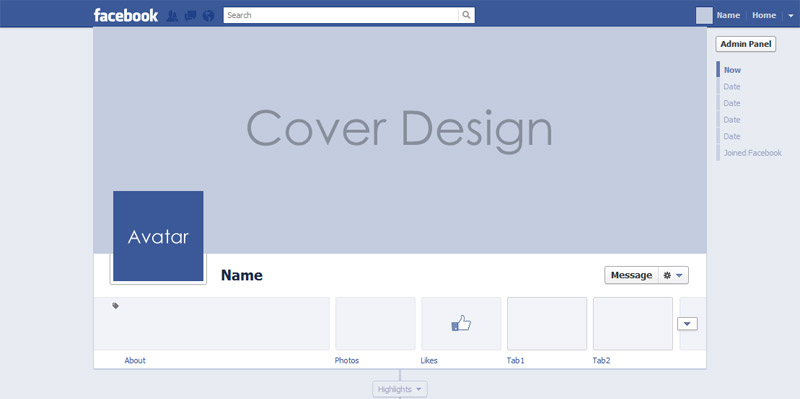 facebook cover template mock up