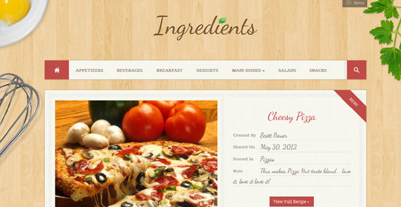 Showcase your cooking skills with highly versatile wordpress showcase your cooking skills with highly versatile wordpress blogging themes forumfinder Images