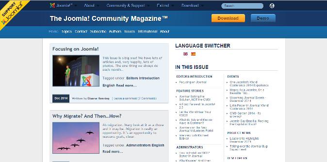 Magazine Joomla