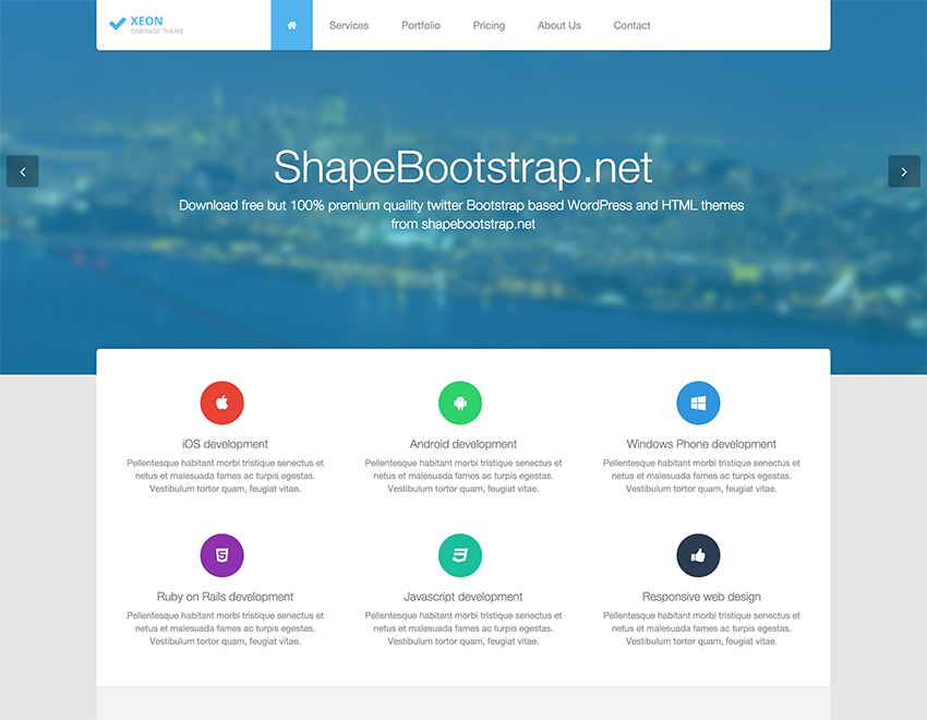 bootstrap-version-website