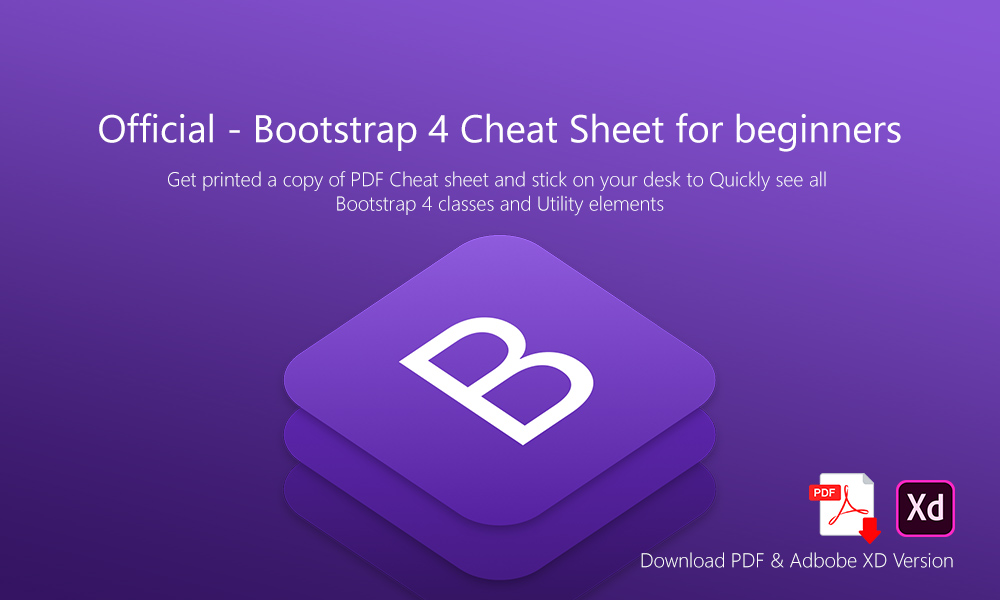 Official - Bootstrap 4 Cheat Sheet for beginners